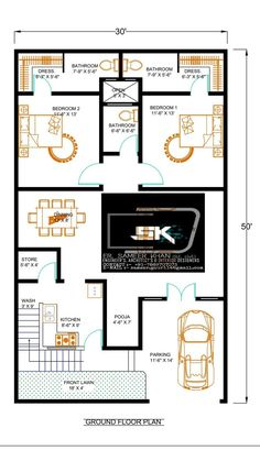 Introducing modern house plan By Er. Sameer khan contact for more details about this 2bhk House Plan, Model House Plan, Simple House Plans, House Layout Plans, Duplex House Plans, Best House Plans, Bedroom House Plans, Dream House Plans, House Floor Plans