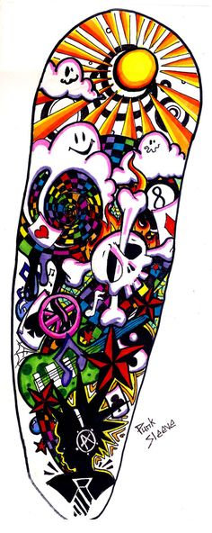 Punk Sleeve Tattoo Design by *Spookychild on deviantART