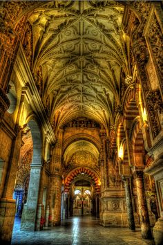 Cordoba Mosque Corboda mosque turned church, Spain-The pride of islamic architecture!