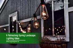 Here are 6 spring landscape lighting ideas to refresh your lawn. Learn the benefits of landscape lighting and why going for the smart system is convenient. Spring Landscape, Landscape Lighting, Irrigation, Gardening Tips