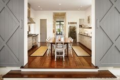 Beautiful barn door frame for the country kitchen -- house by Dillon Kyle Architecture