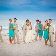 Interesting color scheme with the beige and turquoise! Beautiful destination wedding in Puerto Vallatarta - by MacMex Photography
