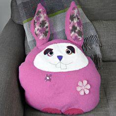 Upcycled Sweater Bunny Cushion - Pillarboxblue.com