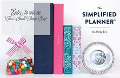 Enter to win a FULLY stocked Simplified Planner by Emily Ley! http://www.thesmallthingsblog.com/2012/10/an-emily-ley-giveaway.html