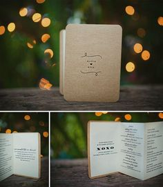 #wedding program ... love story book themed. I LOVE this! Maybe the programs for our vow renewal?