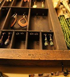 upcycled jewelry rack
