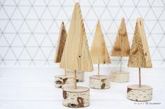 Choinka drewniana ozdobna  - 5_Element - Dekoracje: drewno