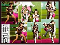 """Baseball girls :) 2NE1 dara & bom"" by alice-glamour ❤ liked on Polyvore"