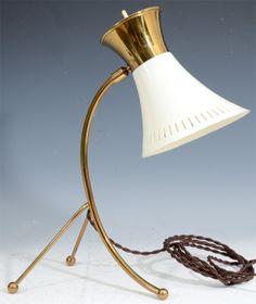 Vintage French Tri-pod Desk Lamp Attributed to Boris Lacroix 1950s