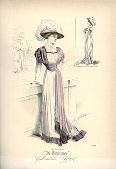 Dress, 1908 the Netherlands, De Gracieuse