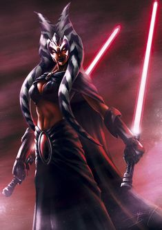 Ahsoka the Sith by Juan Carlos Medina - Star Wars Star Wars Clones, Star Wars Sith, Star Wars Stormtrooper, Star Wars Rpg, Star Wars Fan Art, Images Star Wars, Star Wars Characters Pictures, Star Wars Collection, Dark Side
