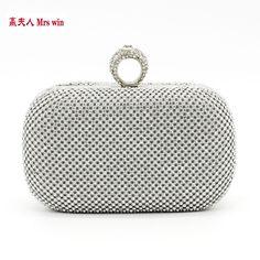 Free Shipping 2017 diamond-studded evening bag with a diamond bag women's rhinestone banquet handbag day clutch female YHB3