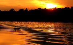 A Amazônia tem um belo pôr-do-sol