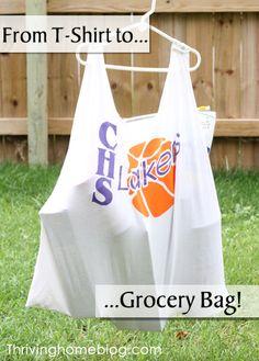 tshirt to grocery bag