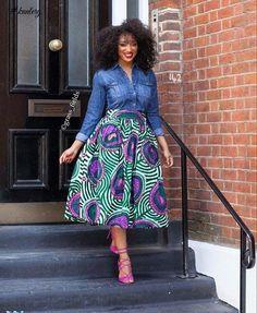 Beautiful African Fashion Ankara Styles in Fashion Trends for Black Women African Print Skirt, African Print Dresses, African Wear, African Attire, African Dress, African Prints, African Style, African Women, African Fabric