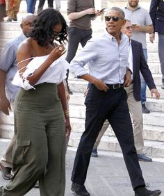 Michelle Obama Looks Molto Bella in a Lace-Up, Off-the-Shoulder Top While on Vacation in Italy