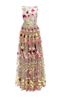 Floral Embellished Illusion Ball Gown by NAEEM KHAN for Preorder on Moda Operandi