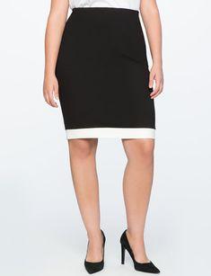 Contrast Trim Pencil Skirt from eloquii.com
