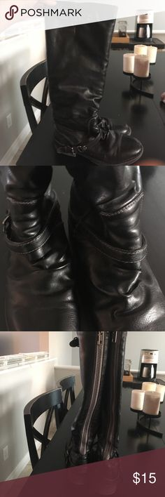 Gray Madden Girl tall boots Dark gray Madden Girl tall boots Madden Girl Shoes Heeled Boots