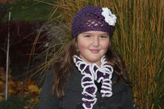 Crochet slouchy tam and scarf crochet tam hat   by LovbyCrochet, $45.00