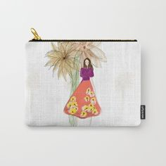 Flower Girl: 1 Carry-All Pouch #customartbybc #shop