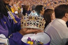 It's Homecoming Week for LSU! Who will be going to this weekend's game against Ole Miss? Homecoming Week, Louisiana State University, Ole Miss, Lsu Tigers, Purple Gold, Cheers, Saints, Football, Crown