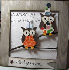 Birthday Owls by LibertyGirl - Cards and Paper Crafts at Splitcoaststampers