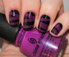 Purple and Black Mummy Mani
