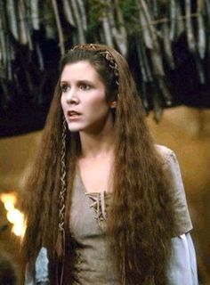 "Star Wars - ""Return of the Jedi"" - Endor - Princess Leia hair.  I love this hairstyle.  ♥"