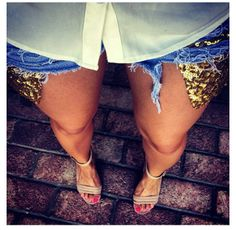 Sequin short pockets. DIY def!