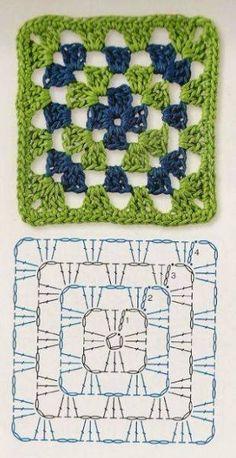 Transcendent Crochet a Solid Granny Square Ideas. Wonderful Crochet a Solid Granny Square Ideas That You Would Love. Crochet Granny Square Beginner, Granny Square Bag, Crochet Motifs, Granny Square Crochet Pattern, Crochet Diagram, Afghan Crochet Patterns, Crochet Chart, Love Crochet, Knitting Patterns