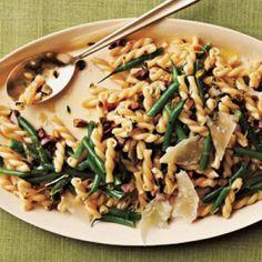 Gemelli Salad with Green Beans, Pistachios, and Lemon-Thyme Vinaigrette Recipe | CookingLight.com