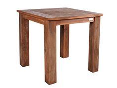 Massiver Teakholz Esstisch 80 X 80 Cm Teaktisch Küchentisch Massivholz  Retro Recycelt Gartentisch