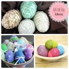 EGG-stravaganza on @Spoonful!! 8 Creative Ways to Decorate Your Easter Eggs.  (My Paper Mache eggs are included! ;)