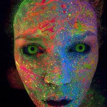 Maquillage fluorescent Maquillage blacklight Maquillage Fluo Maquillage  néon Maquillage fluo monstre Makeup fluo Makeup Blacklight Makeup