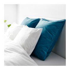 "$10. 26"" Euro, all cotton (looks like velvet) called dark turquoise. SANELA Cushion cover  - IKEA"