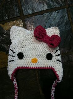 Ravelry: Project Gallery for Hello Kitty Hat pattern by Good Stitchin'