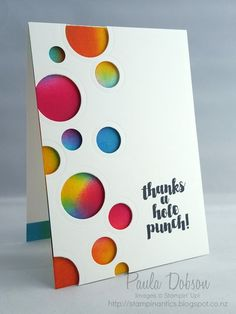 THANKS A HOLE PUNCH! Stampin' Up!