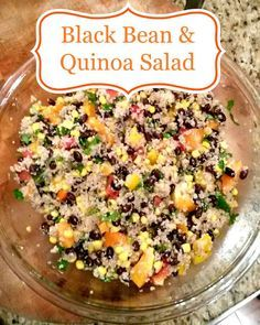 Black Bean and Quinoa Salad from the 21 Day Fix cookbook, Fixate.  Check out the recipe here!
