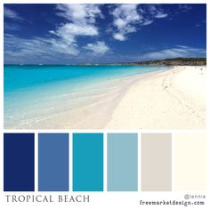 Color Scheme - Tropical Beach - FreeMarket Design
