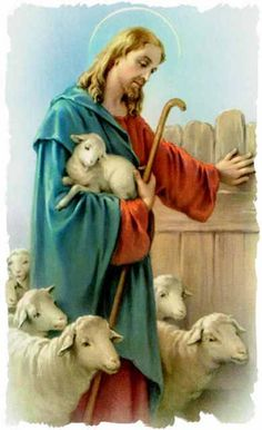 Christ The Good Shepherd, Lord Is My Shepherd, Jesus Mary And Joseph, Jesus Is Lord, Lion Of Judah Jesus, Première Communion, Vintage Holy Cards, Pictures Of Jesus Christ, Christian Images