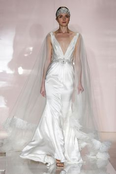 The Most Ridiculously Pretty Wedding Dresses from the Fall Bridal Shows: Reem Acra's simple, but stunning gown.