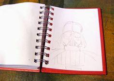 Ilustrador Alexiev Gandman: Paso a paso para ilustrar a Darth Vader
