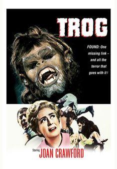 Movie of the Week: Trog Classic Movie Posters, Film Posters, Sci Fi Movies, Old Movies, Movie Of The Week, Joan Crawford, Michael J, Horror Art, Snake Skin