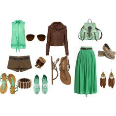 Mint Summer time, created by lexiburbey on Polyvore