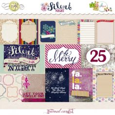 A nice mix of 3x4 and 4x6 journal cards to coordinate with the Silent Night Collection by NRJ Designs and MellyBird Designs. Perfect for digital art journaling or Project Life®.