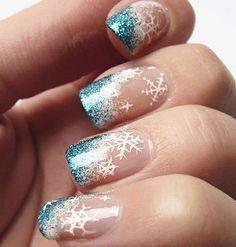 50 Beautiful Nail Designs to Try This Winter - Winter Nails Grey - Nagel Winter Nail Designs, Winter Nail Art, Colorful Nail Designs, Beautiful Nail Designs, Cute Nail Designs, Beautiful Nail Art, Winter Nails, Holiday Nails, Christmas Nails