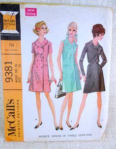 Vintage pattern McCall's 9381 1960s Double by momandpopcultureshop