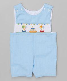 Blue Birthday Cake Shortalls - Infant & Toddler #zulily #zulilyfinds