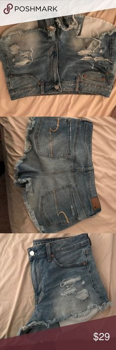 American eagle Jean shorts American eagle denim shorts, holes in the pockets American Eagle Outfitters Shorts Jean Shorts